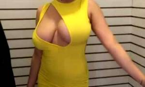 Funny Tits Pop Out Of Dress