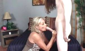Naughty Cougar MILF Knows How to Seduce Young Boy